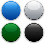 Glossy web circle buttons