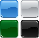 Glossy web square buttons