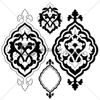 artistic ottoman pattern series twenty one