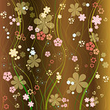 floral vector background eight