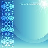 floral vector background five