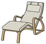 Relaxation wooden armchair