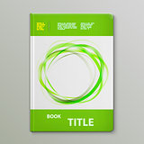 Abstract Green Rings Book Template.