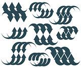 Arrows abstract symbol set, vector conceptual pictogram template