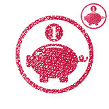 Piggy bank, coins cash money savings theme vector simple single