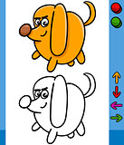 dog game character cartoon illustration