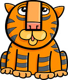 tiger animal cartoon illustration
