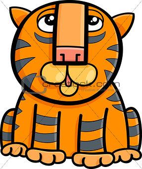 tiger animal cartoon illustration