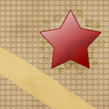 Red star on grunge paper