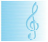 abstract musical background with treble clef