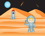 Spaceman on mars