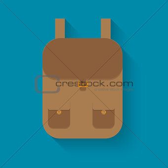 backpack in style flat