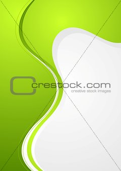 Abstract green and grey wavy background
