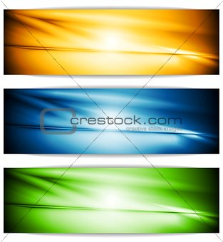 Bright glowing banners