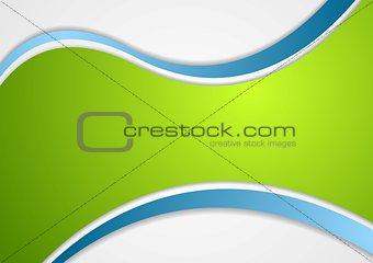 Corporate wavy vector background