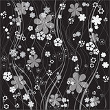 floral vector background seven