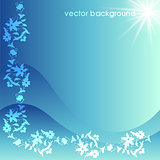 floral vector background six