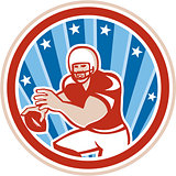 American Football QB Throwing Circle Retro