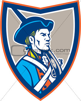 American Patriot Musket Side Shield Retro