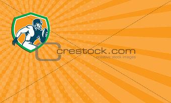 Business card American Football Player Running Shield Retro