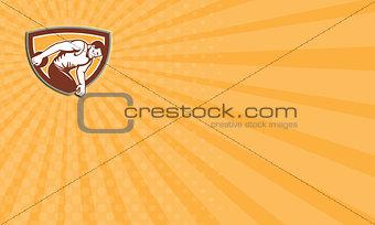 Business card Discus Thrower Shield Retro
