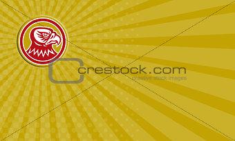 Business card Falcon Head Side Circle Retro