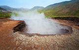 Geothermal Source in Hveragerdi, Iceland