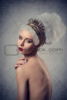 cute woman with creative hair-style