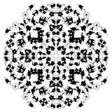artistic ottoman black pattern series twenty nine