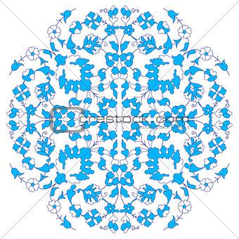 artistic ottoman blue pattern series twenty nine