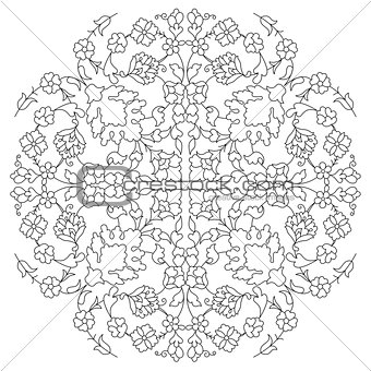 artistic ottoman line pattern series twenty nine