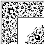 artistic ottoman pattern series twenty five version
