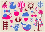 Baby icons collection