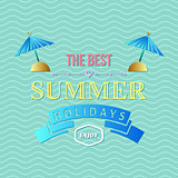 Summer holidays typography