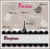 Romantic Eiffel Tower decorated