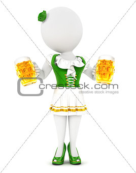 3d white people woman oktoberfest