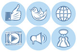 icons for social networking, internet, Like, file sharing