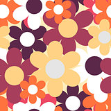 Flowers Nature Seamless Pattern Background Vector Illustration