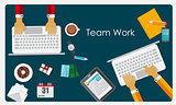 Team Work Flat Concept Vector Illustration