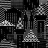 Town. Abstract architectural background.