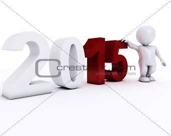 3D Morph Man happy new year