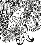 Doodling background with hand drawn abstract patterns