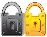 Two locks from door
