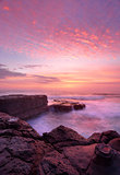 Sunrise North Avoca Beach rock shelf