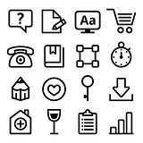 Web menu navigation line icons set - stroke style