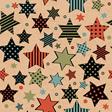 Vintage seamless with stars