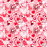 Background made of ornate hearts