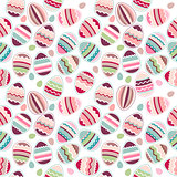 Seamless easter pattern made eggs