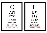 eye chart pictures, vector