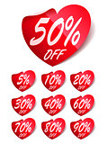 Heart Sale Labels